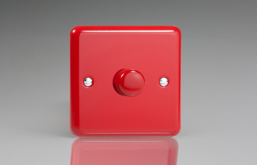HY0.PR-SP Varilight Non-dimming 'Dummy' Series module, 1 or 2 Way Up To 1000 Watt, this is a Bespoke item, Classic Pillar Box Red