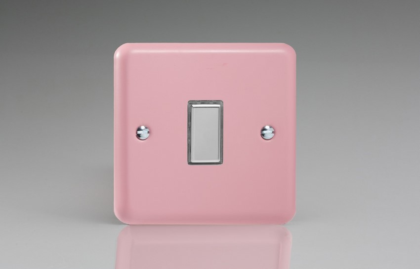 Varilight V-Pro Multi Point Tactile Touch Slave (MP Slave) Series 1 Gang Unit for use with V-Pro Multi Point Remote Master Dimmers Rose Pink
