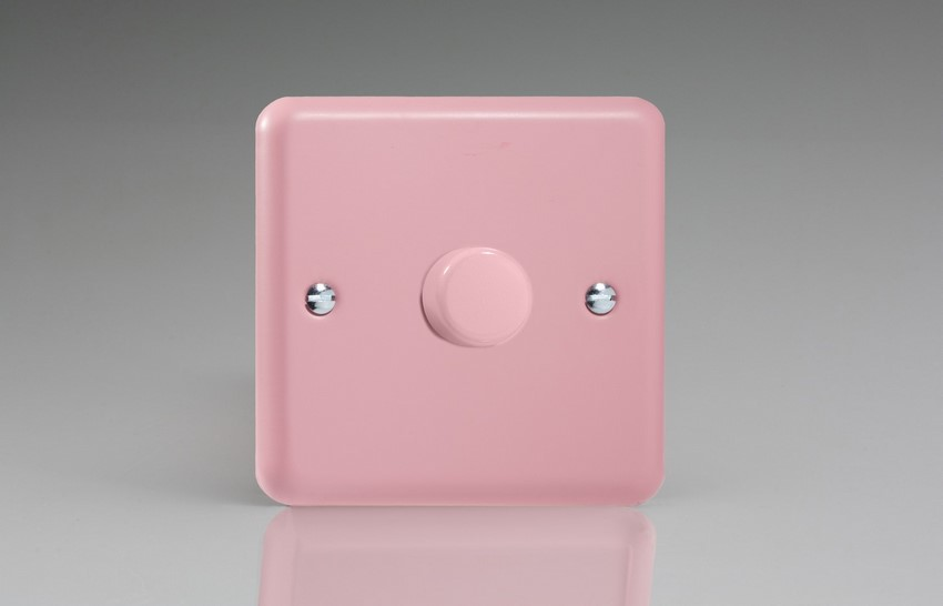 TYR1001.RP Varilight V-Dim Series 1 Gang 1 or 2 Way 1000 Watt Dimmer, Classic Lily Rose Pink