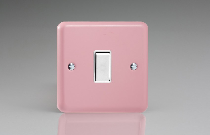 XY7W.RP Varilight 1 Gang (Single), (3 Way) Intermediate 10 Amp Switch, Classic Lily Rose Pink