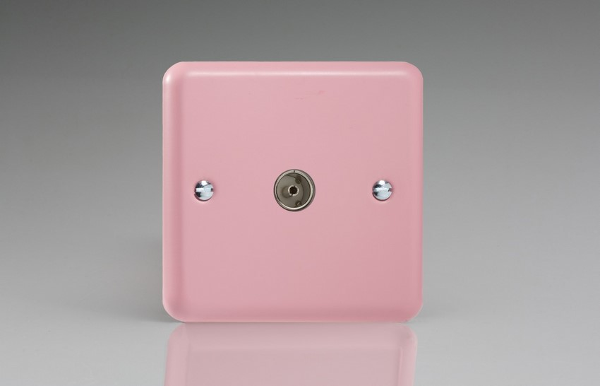 Varilight 1 Gang Co-axial TV Socket Classic Lily Rose Pink