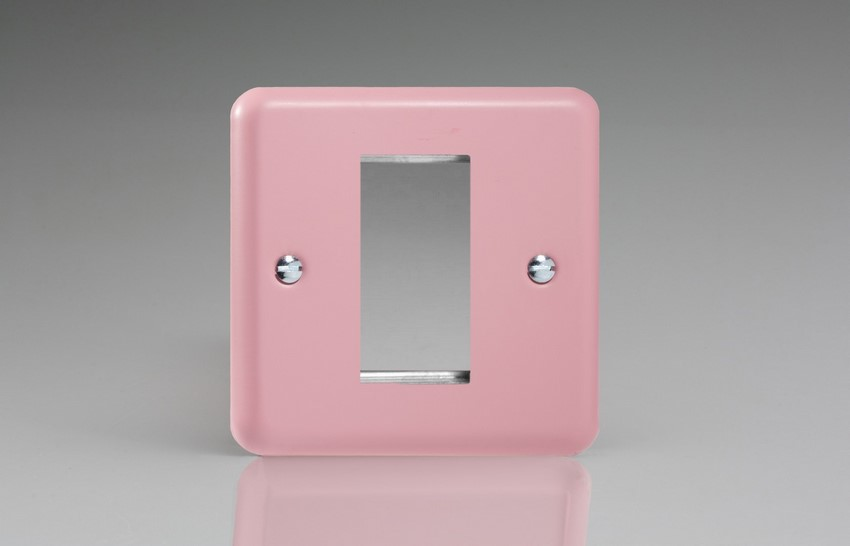 Varilight 1 Gang Data Grid Face Plate For 1 Data Module Width Classic Lily Rose Pink