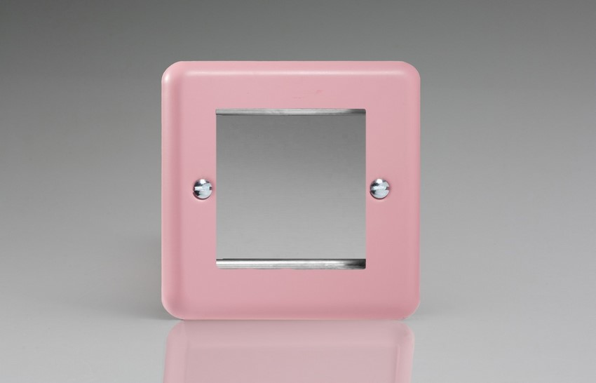 XYG2.RP Varilight Single Size Data Grid Face Plate For 2 Data Modules Width, Classic Lily Rose Pink