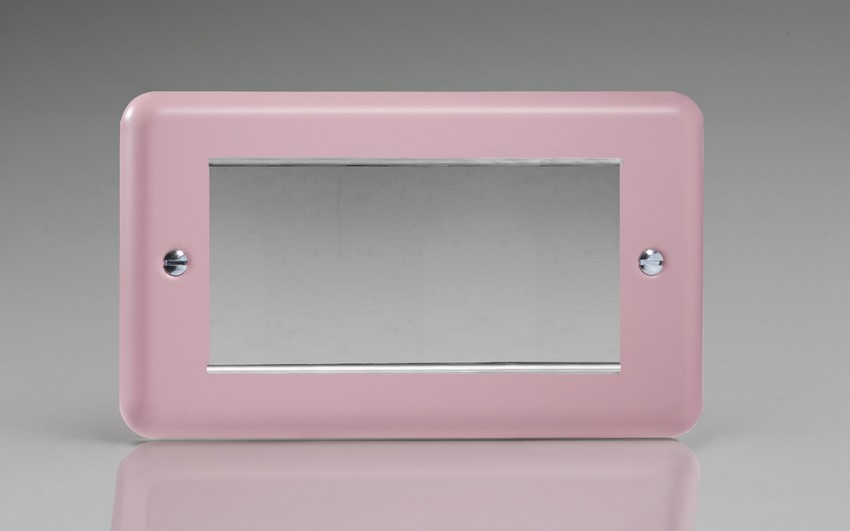 XYG4.RP Varilight Double Size Data Grid Face Plate For 3 or 4 Data Modules Width, Classic Lily Rose Pink