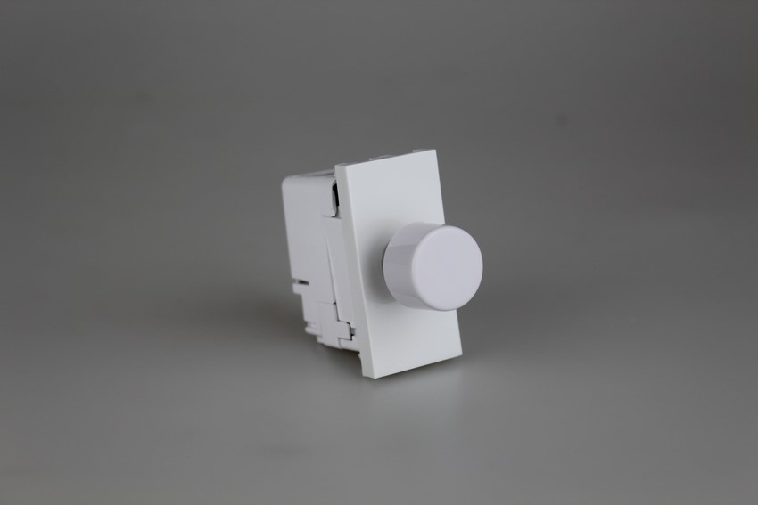 DKP180W Varilight DataGrid+ V-Com 2-Way Push-On/Off Rotary LED Dimmer 15-180W max 20 LEDs (1 Grid Space)