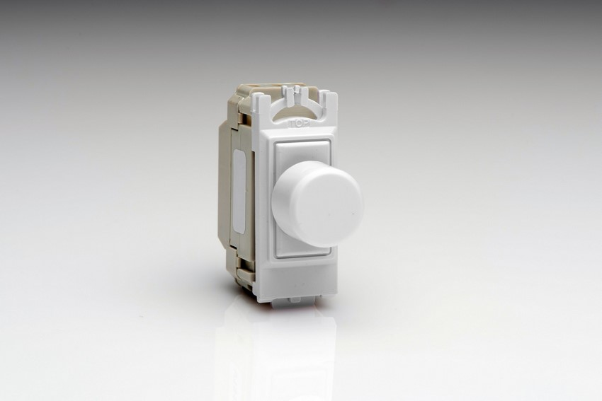 GJP100W [Z0JP400W.24PG] is a 1 Gang, 1 or 2 Way, 200 Watt (Trailing Edge) Dimmer module for Varilight power grid plates.
