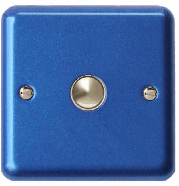 IYN401BL Varilight Nursery Dimmer, 1 Gang, 1 Way 400w NurseryTouch Dimmer, Glitter Blue