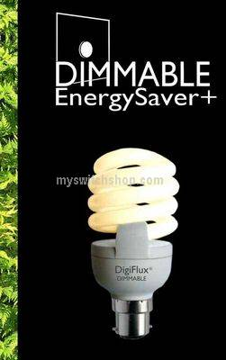 YCA20D-B22 Varilight Dimmer Dimmable Energy Saving Lamp with Bayonet Fitting. 1250 Lumens, equivelant to 110 Watt GLS Lamp.
