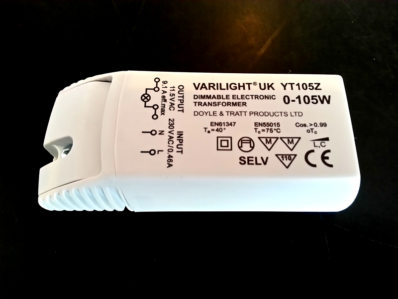 YT105Z, Varilight 105 watt transformer for low voltage circuits