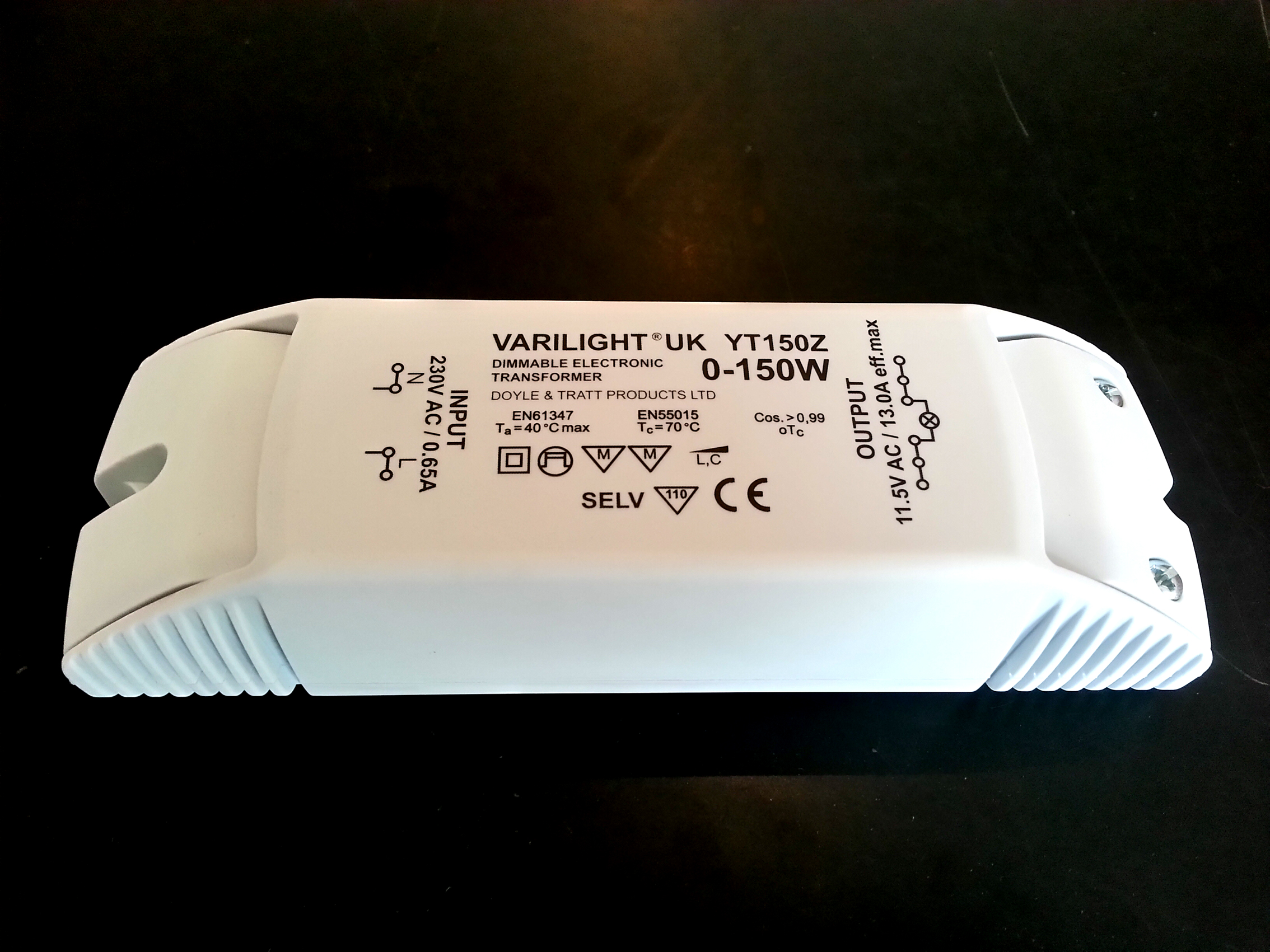 YT150Z, Varilight 150 watt transformer for low voltage circuits
