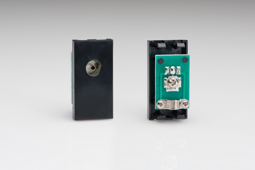 Z2G8B Varilight PAL Coax Female Module in Black. Use with Varilight Data Grid Plates