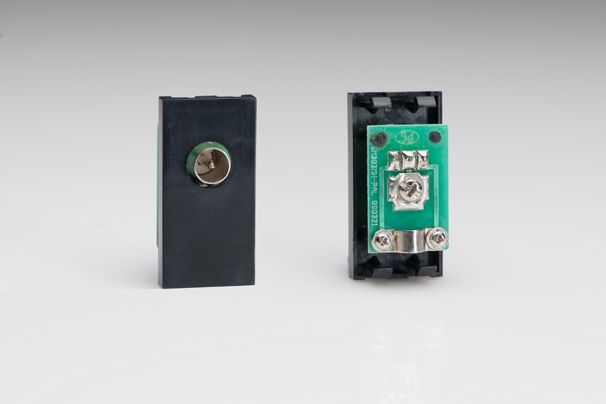 Z2G8MB Varilight PAL Coax/Radio Male Module in Black. Use with Varilight Data Grid Plates