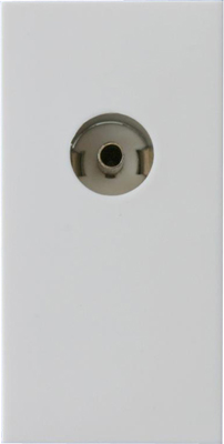 Z2G8iSOW Varilight isolated Coax TV Female Module in White. Use with Varilight Data Grid Plates