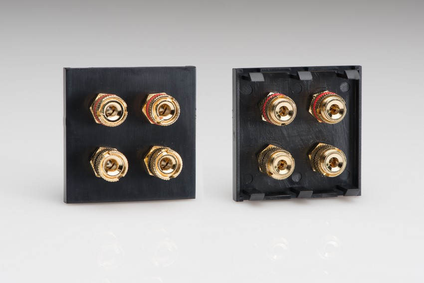 Z2GSP4B Double Sized Speaker Module in Black with 4 Binding Posts. Use with Varilight Data Grid Plates