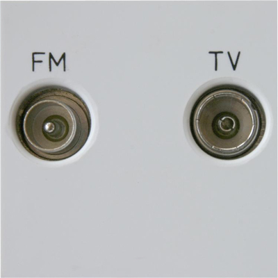 Z2GTVFMW Varilight Diplex TV/FM (including DAB Digital Radio) Module in White. Use with Varilight Data Grid Plates