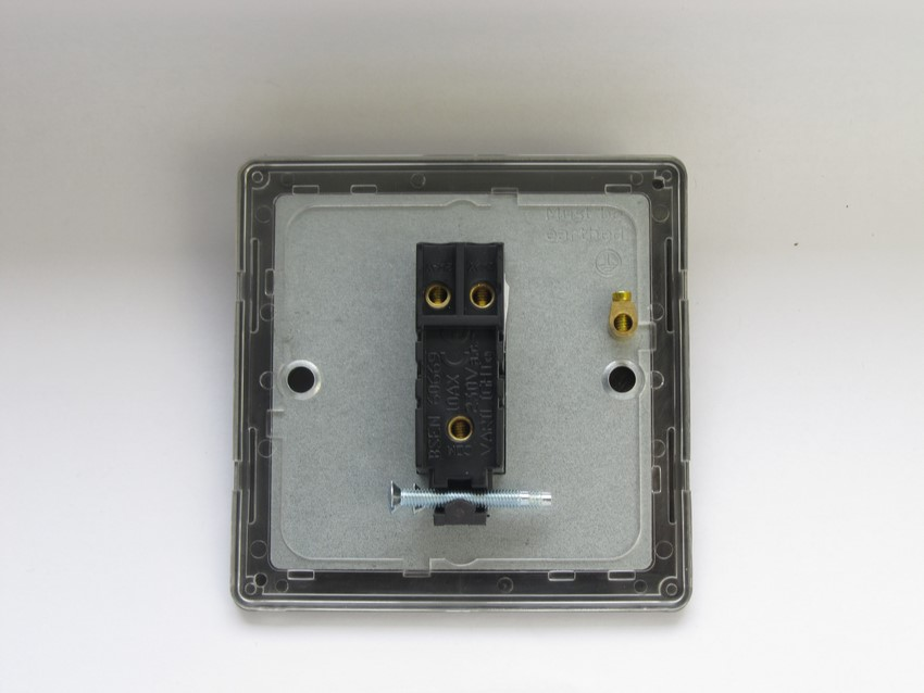 XDB1S Varilight 1 Gang (Single), 1 or 2 Way 10 Amp Switch, Dimension Screwless Brushed Brass Effect