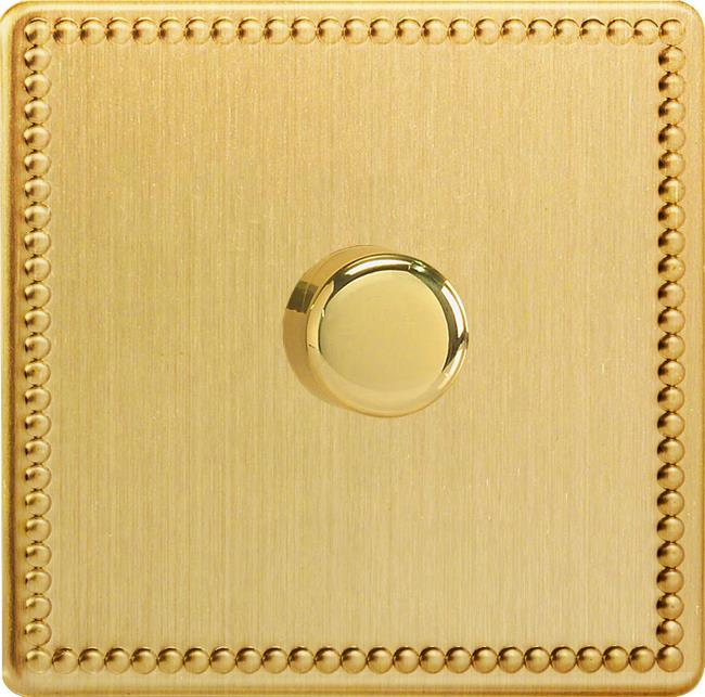 HDY0S.JB-B Varilight Non-dimming 'Dummy' Series module, 1 or 2 Way Up To 1000 Watt, this is a Bespoke item, Dimension Screwless Jubilee Brushed Brass