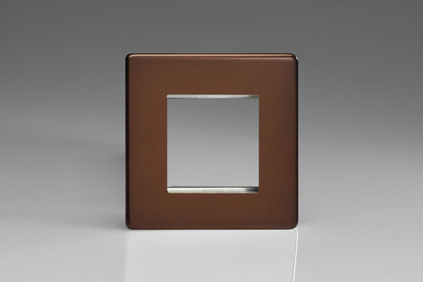 XDMG2S Varilight Single Size Data Grid Face Plate For 2 Data Modules, Dimension Screwless Mocha