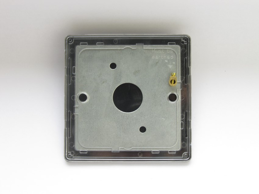 XDRSBS Varilight 1 Gang (Single), Blank Plate, Dimension Screwless Pewter