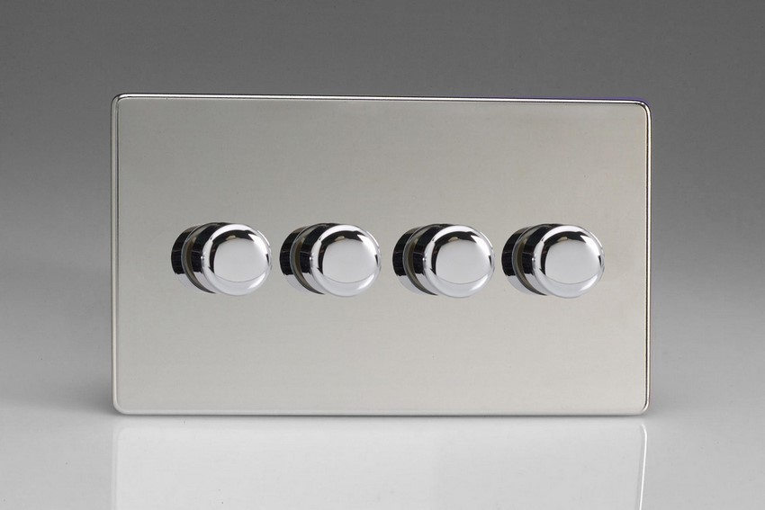 Polished Chrome Dimmer and Light Switch