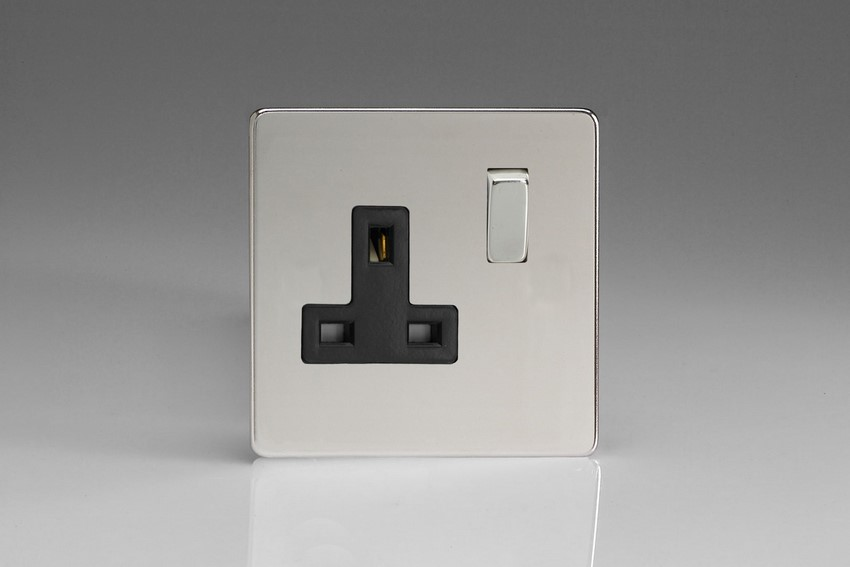 Varilight 1 Gang 13 Amp Double Pole Switched Socket