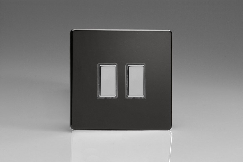 Varilight V-Pro Multi Point Tactile Touch Slave (MP Slave) Series 2 Gang Unit for use with V-Pro Multi Point Remote Master Dimmers