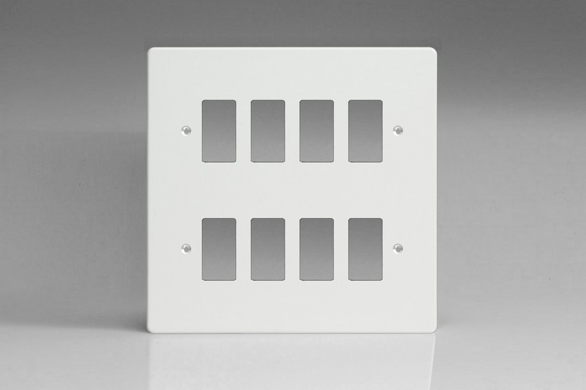 Varilight 8 Gang Power Grid Faceplate Including Power Grid Frames ...