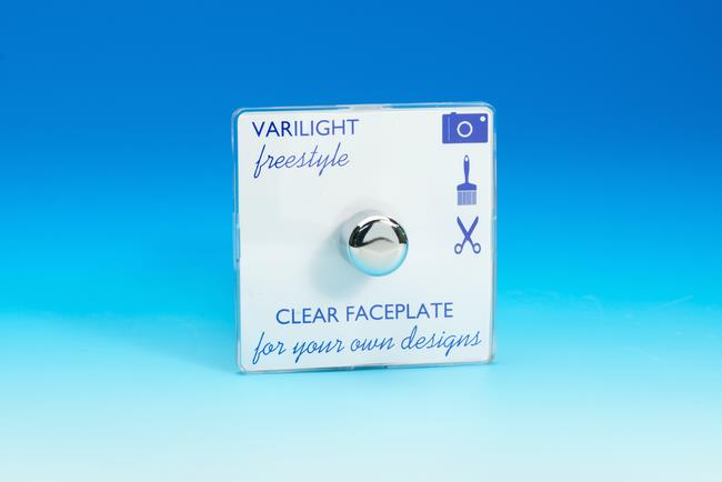IFIP1001C Varilight V-Plus Series 1 Gang 1 or 2 Way 200-1000 Watt/VA Dimmer, Dimension Screwless Freestyle