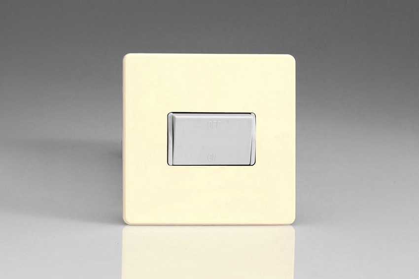 XDWFIWS Varilight 10 Amp Fan isolating Switch (3 Pole), Dimension Screwless White Chocolate