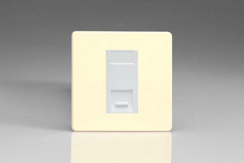 Varilight 1 Gang White Telephone Slave Socket