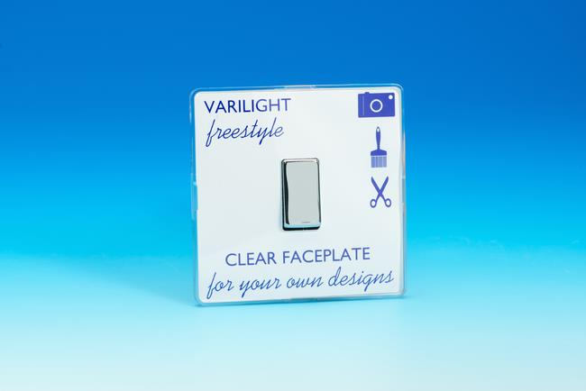 XIF1C Varilight 1 Gang, 1 or 2 Way 10 Amp Switch, Dimension Screwless Freestyle
