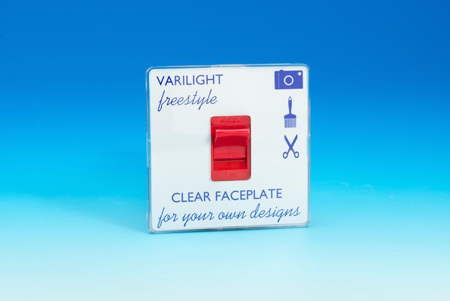 XIF45C Varilight 45 Amp Cooker Switch (Single Size), Dimension Screwless Freestyle