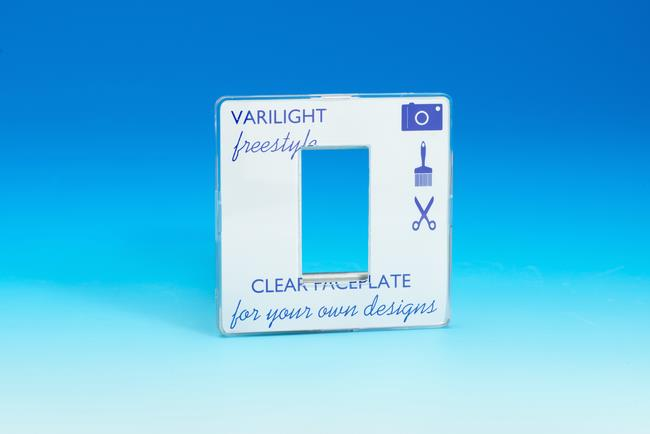 XIFG1C Varilight Single Size Data Grid Face Plate For 1 Data Module Width, Dimension Screwless Freestyle