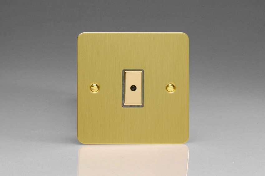 JFBE101 - Varilight V-Pro Series Eclique2, 1 gang Intelligent Programmable Master Dimmer, with Tactile Touch Button and Integrated Remote Control Sensor 0-100 Watts of LEDs (10 LEDs Max), Ultra Flat Brushed Brass Effect