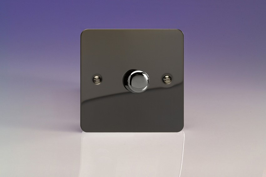 HFI0-SP Varilight Non-dimming 'Dummy' Series module, 1 or 2 Way Up To 1000 Watt, this is a Bespoke item, Ultra Flat Iridium Black