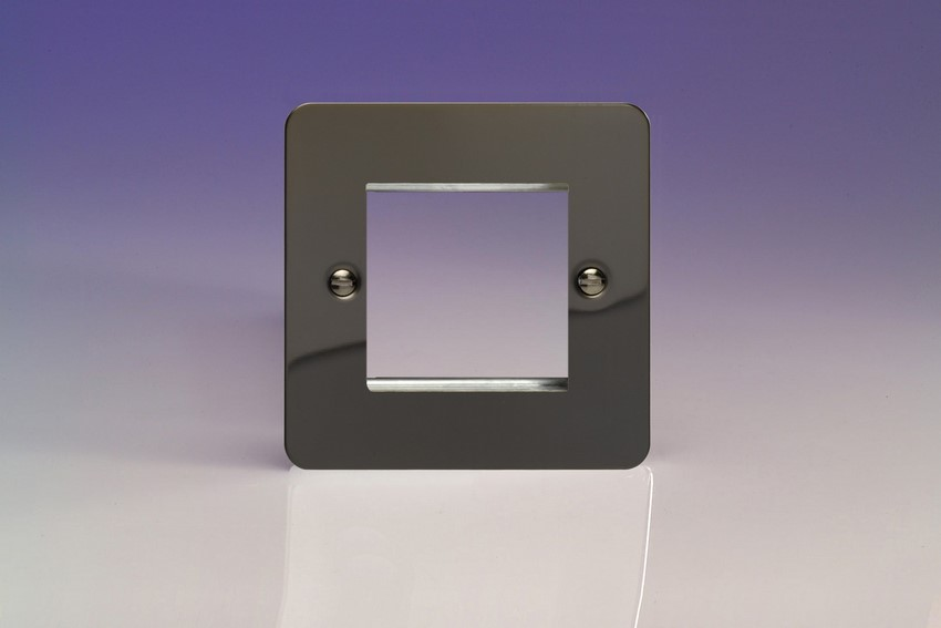 XFIG2 Varilight Single Size Data Grid Face Plate For 2 Data Modules, Ultra Flat iridium Black