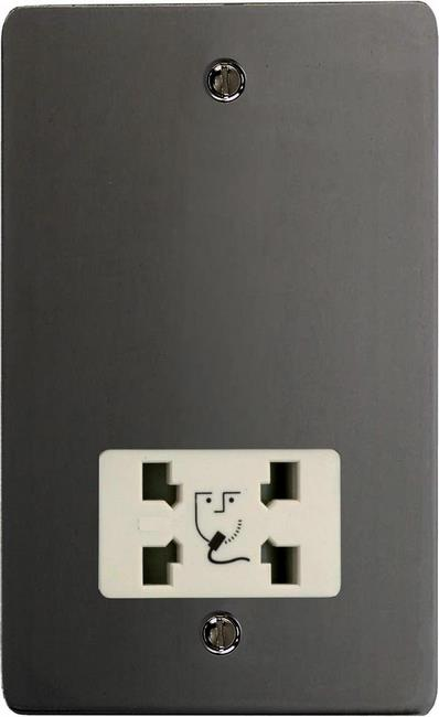 XFISSW-SP Varilight Dual Voltage Shaver Socket, Ultra Flat iridium Black