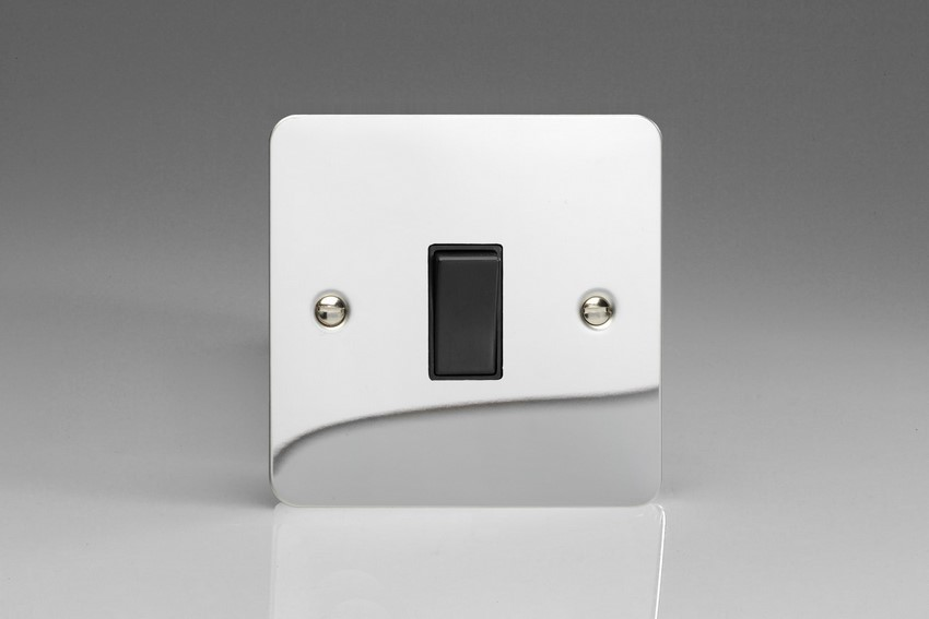 XFC20B-SP Varilight 1 Gang (Single), 20 Amp Double Pole Switch, Ultra Flat Polished Chrome (Bespoke & Special)