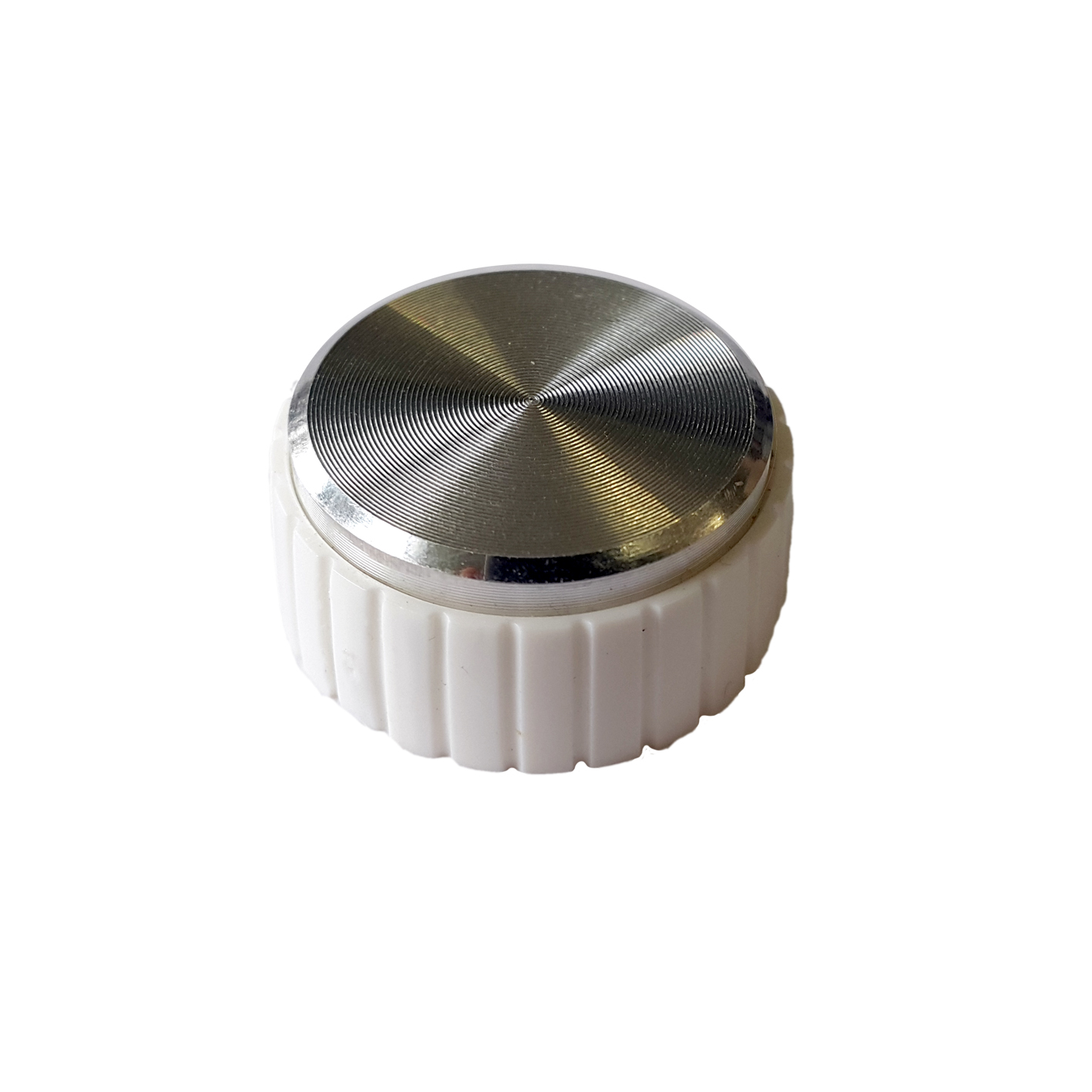 K6 Varilight White Retro Knob Fits on Dimmers of any plate finish
