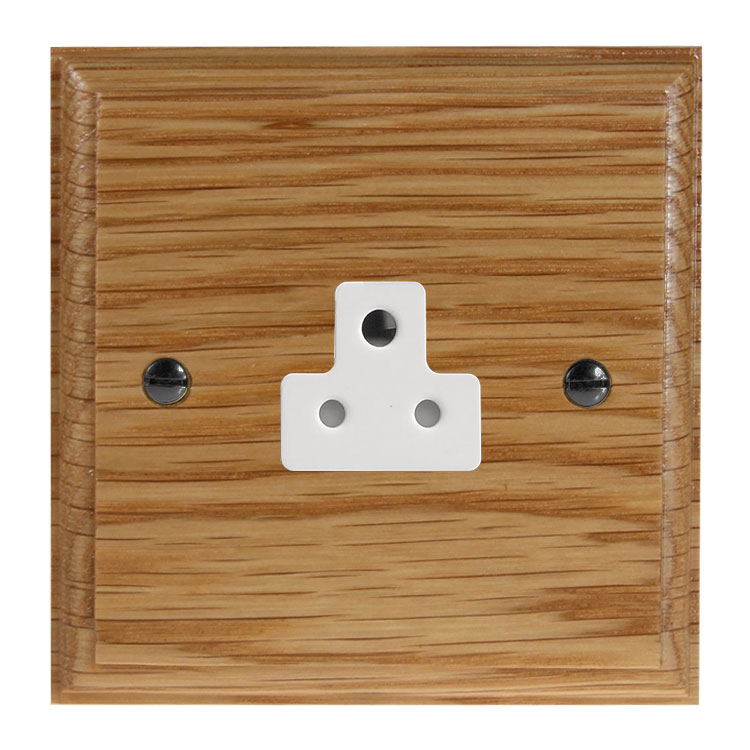 Classic 1Gang 2Amp Unswitched Socket in Solid Oak