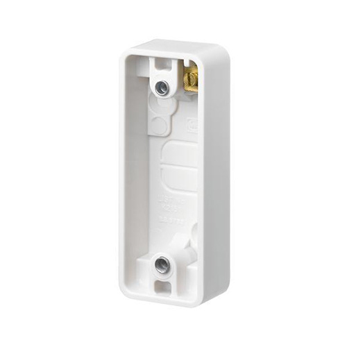 MK K2151 WHITE 1 GANG SURFACE MOUNTED ARCHITRAVE BOX
