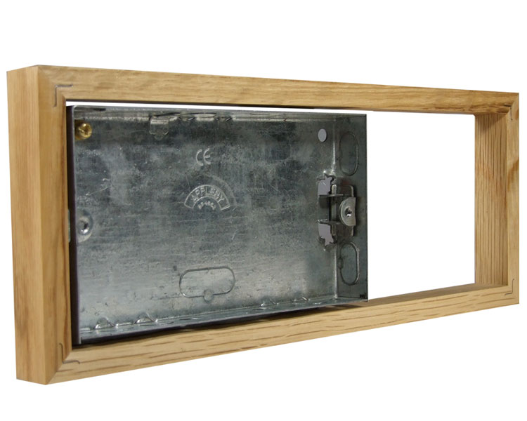 Classic Oak 18mm surface mounting wall box for 3G Bakelite for Horizontal fitting