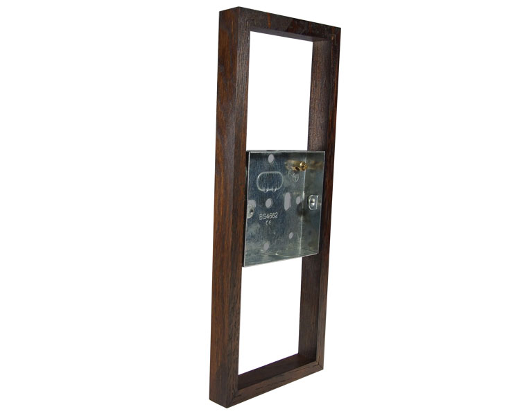 Classic Dark Oak 18mm surface mounting wall box for 3G Bakelite for Vertical fitting