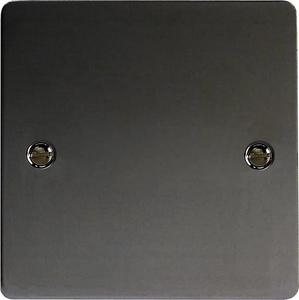 XFISB Varilight 1 Gang (Single), Blank Plate, Ultra Flat iridium Black