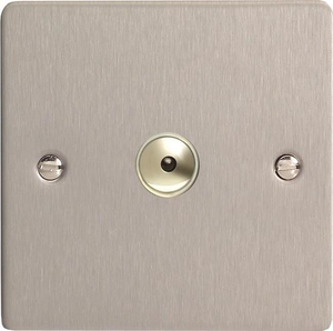 IFSI401M Varilight 1 Gang, 1 or 2 Way or Multi-way 400 Watt Touch/Remote Master Dimmer, Ultra Flat Brushed Steel