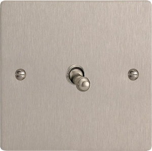 XFST1 Varilight 1 Gang (Single), 1 or 2 Way 10 Amp Classic Toggle Switch, Ultra Flat Brushed Steel