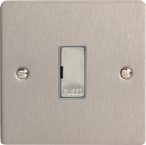 XFS6UD Varilight 1 Gang (Single), 13 Amp Unswitched Fused Spur, Ultra Flat Brushed Steel