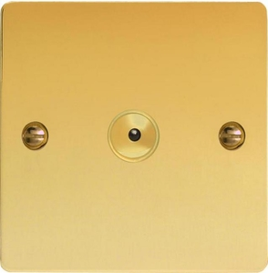IFVI401M Varilight 1 Gang, 1 or 2 Way or Multi-way 400 Watt Touch/Remote Master Dimmer, Ultra Flat Polished Brass Effect