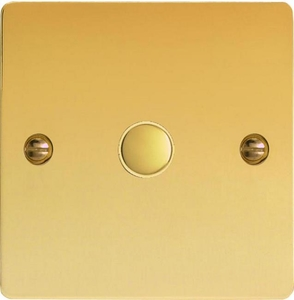 IFVS001 Varilight 1 Gang, Multi-way Touch Slave Unit Ultra Flat Polished Brass Effect