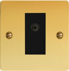 XFVG8ISOB Varilight 2 Gang (Double), Isolated Co-axial TV Socket, Ultra Flat Polished Brass Effect